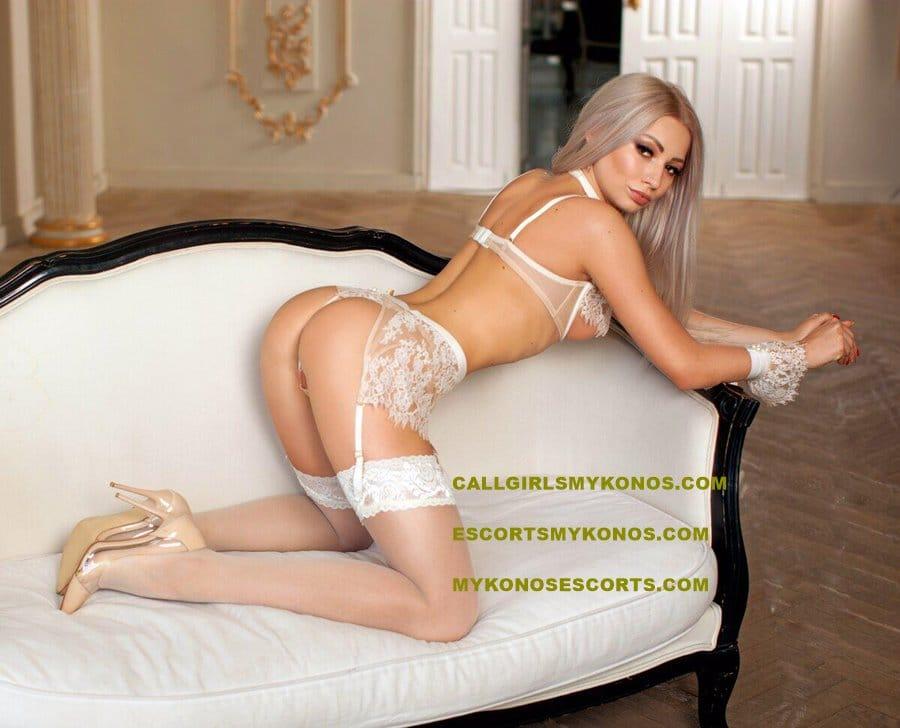 blonde Mykonos escort girl
